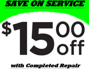 Save 15 Dollars with completed repair